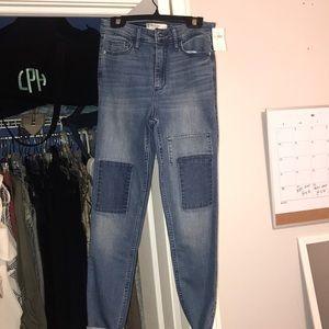 Dark colored jeans